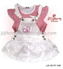 2012 hottest design cream princess kids party skirt