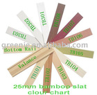Chinese Roll Bamboo Curtain -TH-B1005 chart