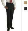Men's Plain-Front Gabardine Trouser