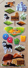 Cartoon puffy sticker for kids