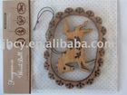 2012 newest cute wooden customized long lasting high quality cheap price wooden air freshener