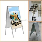 double-side aluminum free standing poster stand