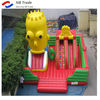 funny outdoor castle double lane inflatable octopus slide