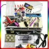Professional Tattoo Kit Dual LCD Power 2 Machine Gun 4 Grips 8 Inks 50 Needles