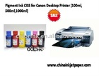 CISS Refilled Pigment Ink for Canon Desktop Printer