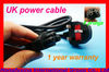 New Arrival ac power 3-prong cable adapter cord with UK plug