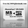 Photo fast CR5400 Dual Micro SD TF to MS Pro Duo Adapter