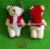 YPA-W01 Lovely fashion 3D Craft Mini Teddy Bear In Xmas Santa Costume mobile phone strap for any model