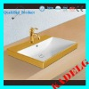 K176 Canbinet Semi Drop-in Bathroom Golden Sink