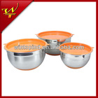 6pcs Salad Mixing Bowl Set With Silicone Bottom&Plastic Lid