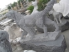 stone carving of animal