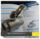 2012 BEST-SALE 2-pc stainless steel ball valve with locking handle