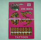 Fancy Tattoo Sticker With Colorful Design