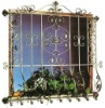 Galvanised Wrought Iron Window {HB-M007}