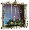 Galvanised Wrought Iron Window {HB-M007}