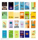 various swing tags/hang tag/price tag