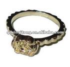 fashion jewelry chunky dried ladybug flower ring