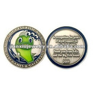 2 color enamel promotional metal coin