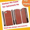 Italian PU shelf-like design phone case ,mobile phone case