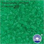 DA DI Glass Seed Beads 11/0 M20-MATTE 'Transparent Frosted Dark Peridot'