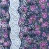 fashion chiffon water soluble embroidery fabric