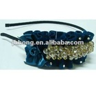metal handmade headband with crystal stone wholesale