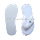 white velour closed toe disposable flip-flop