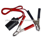 30A battery clip to car cigarette lighter socket