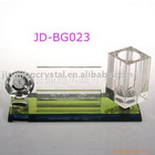useful crystal clock with pen holder office supply