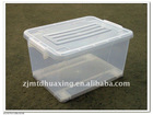 32L White Plastic Storage Box with Handle and Wheels