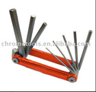 Aluminum Frame Folding Hex Key Set