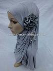 latest design Muslim hijab islamic hijab with flower SYF013