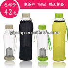 HOT! bpa free 740ml traveling sports bottle with tea filter ,tea filter bottle