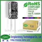 5*11mm 2000H 10uf 25v low voltage capacitor for UPS