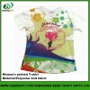 heat transfer printed polyester lycra T-shirt for women
