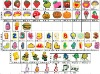 2013 Fruit letters Simpson soft pvc shoes charms soft plastic shoes decorations pins