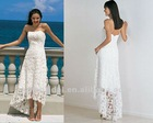 Brand new A-line Lace Zipper front short and long back Wedding Dress