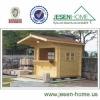 wooden outdoor kiosk booths