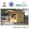 wooden outdoor kiosk booths