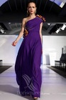 DORISQUEEN Wholesale One Shoulder Floor Length Petite Evening Wear