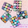 hexagon nail arts use colored glitter powder