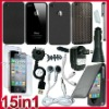 15 Accessory headset Charger Case Bundle for iPhone 4 G 4s
