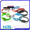 2011 most fashion Hollow silicone bracelet bands