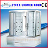 Square acrylic steam shower room for two people