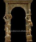 stone free standing door frame