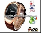 GD777 Steel Case Quad Band Java Camera Touch Screen Watch Phone