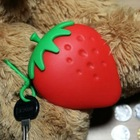 Most popular hot sale strawberry shape silicone key bag& key case