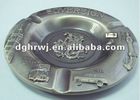 antique silver plating round metalashtray