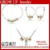 Custom wholesale fashion american diamond necklace sets