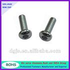 Pan head hex socket machine screws with nickel plated